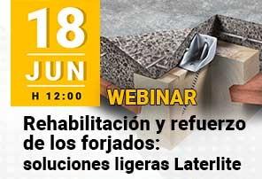 Webinar Rehabilitacion y Refuerzo de Forjados soluciones ligeras Laterlite Apuntate