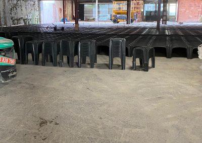 Reconversión de parking a super mercado – Obra el Terrassa - Granchio y mini hércules de diferentes alturas.